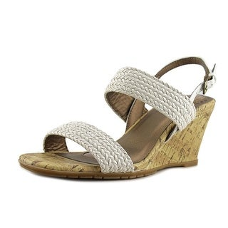 Life Stride Persona Women Open Toe Synthetic White Wedge Sandal