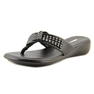 Callisto Shiney Open Toe Synthetic Thong Sandal