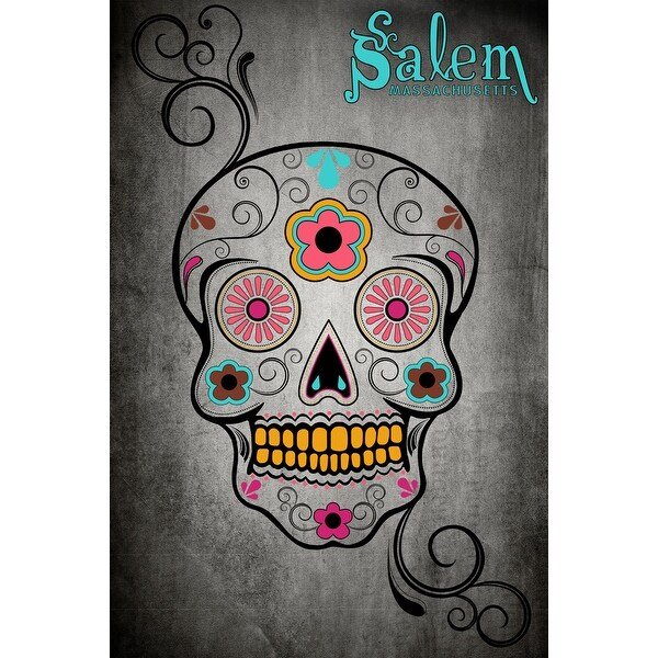 Salem, MA - Sugar Skull - LP Artwork (Cotton/Polyester Chef's Apron)