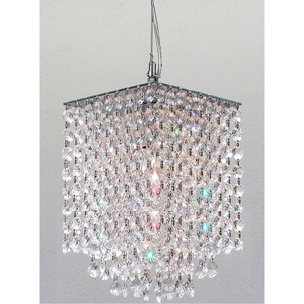 Swarovski Elements Crystal Trimmed Modern Contemporary Crystal Pendant Chandelier