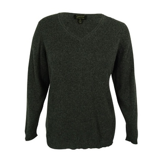 Charter Club Women's Ribbed Cashmere V-Neck Sweater