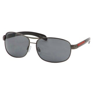 Perry Ellis Mens Metal Aviator Sunglasses Gunmetal Red PE74-2, Includes Perry Ellis Pouch, 100% UV Protection