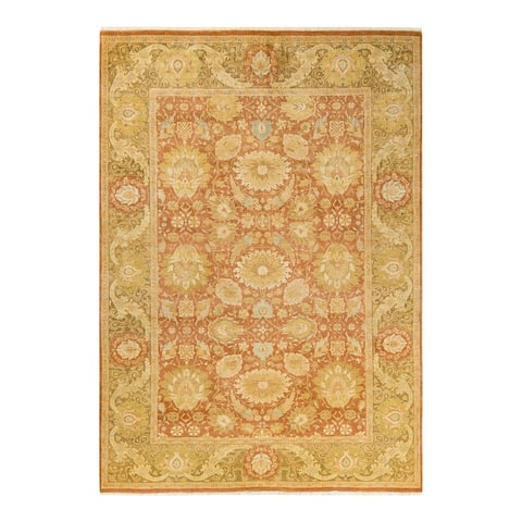 """Mogul, One-of-a-Kind Hand-Knotted Area Rug - Brown, 6' 2"""" x 8' 9"""" - 6'2"""" x 8'9"""""""
