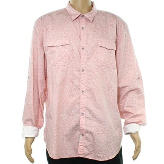 Calvin Klein Pink Men's Size 2XL Button Down Longsleeve Shirt