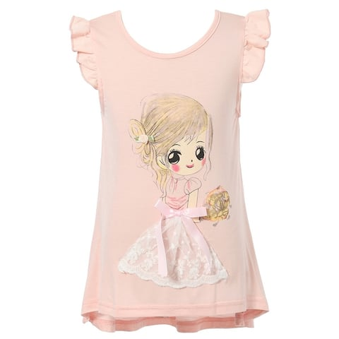 Richie House Girls' Short Sleeve T-Shirt wiith Girl