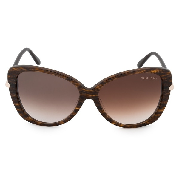 19ac4d7d87c7 Shop Tom Ford Linda Butterfly Sunglasses FT0324 50F 59 - Free ...