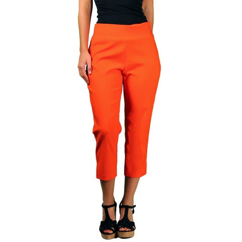 Ally NYC/ Focus 2000 Women's Techno Thin Pull On Crop Pant