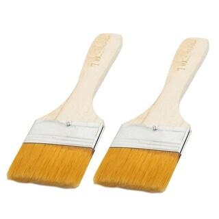 """Unique Bargains 1.8"""" Wide Faux Fur Head Aluminum Ferrule Painting Brush 2Pcs"""
