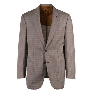 Brioni Men Brown Wool Houndstooth Check Colosseo Sportscoat