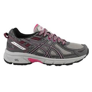 ASICS Women's Gel-Venture 6 Running-Shoes, Carbon/Black/Pink Peacock