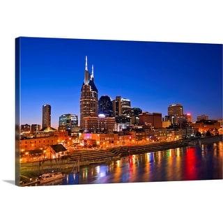 """Nashville, Tennessee skyline"" Canvas Wall Art"