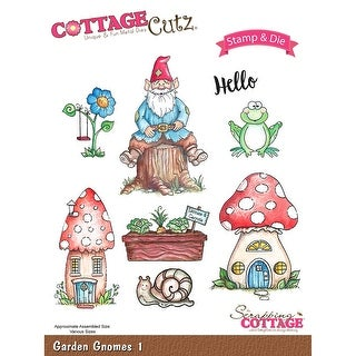 Cottagecutz Stamp & Die Set-Garden Gnomes 1