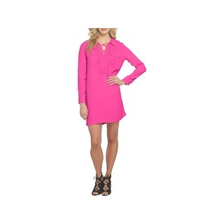 1.State Womens Casual Dress Lace-Up Front Above Knee