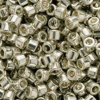 Miyuki Delica Seed Beads, 11/0 Size, 7.2 Grams, Galvanized Silver Metallic DB035