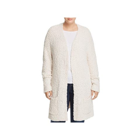 Cupio Womens Plus Cardigan Sweater Chenielle Slouchy