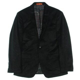 Tallia Mens One-Button Blazer Paisley Slim-Fit