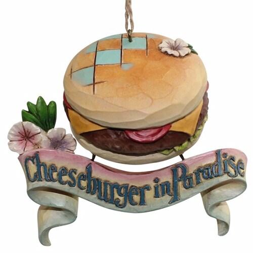 Jim Shore Margaritaville Cheeseburger Paradise Christmas Ornament 4059125 New