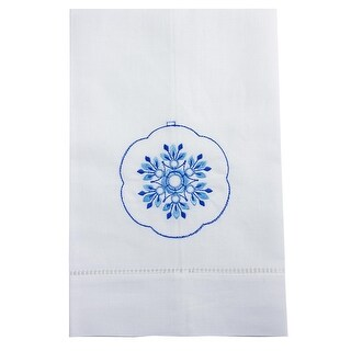 Fancy Ornament Embroidered Linen Tea Towel Collection