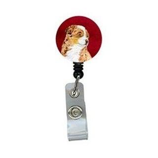 Australian Shepherd Retractable Badge Reel or ID Holder with Clip