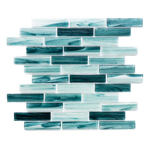 "The Tile Life Island 1"" x 3.75"" Glass Mosaic Tile"