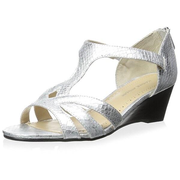 Adrienne Vittadini Womens Corette Leather Open Toe Special Occasion Platform ...