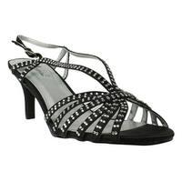 Annie Shoes Womens Lance Black Sandals Size 10