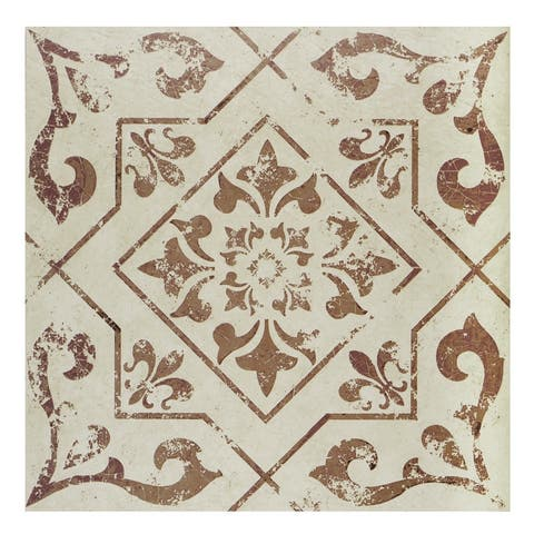 Retro 12x12 Peel & Stick Floor Tile Villa Toffee- 20 Tiles/20 sq. ft.