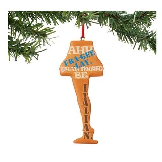 """Department 56 A Christmas Story """"Fra-Gee-Lay Leg Lamp Sentiment"""" Christmas Ornament #4044992"""