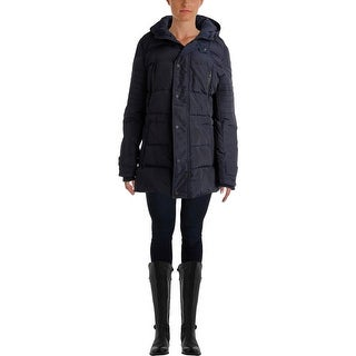 7 For All Mankind Womens Quilted Down Parka - L