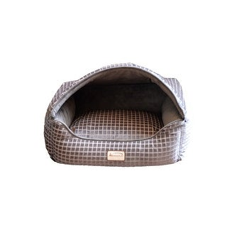 """Link to Armarkat 24"""" 2016 Poly Fill Luxe Velvet Upholstery Cat Bed - Bronze and Silver Similar Items in Cat Beds & Blankets"""
