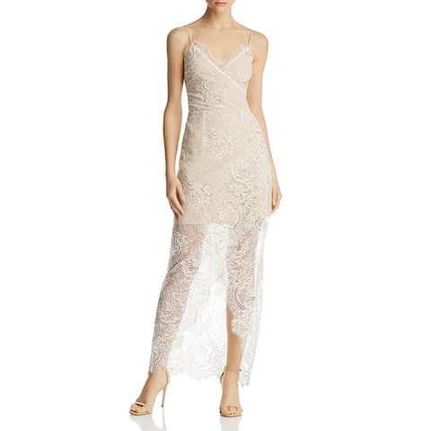 WAYF Womens Gwen Formal Dress Lace Metallic - Ivory Lace