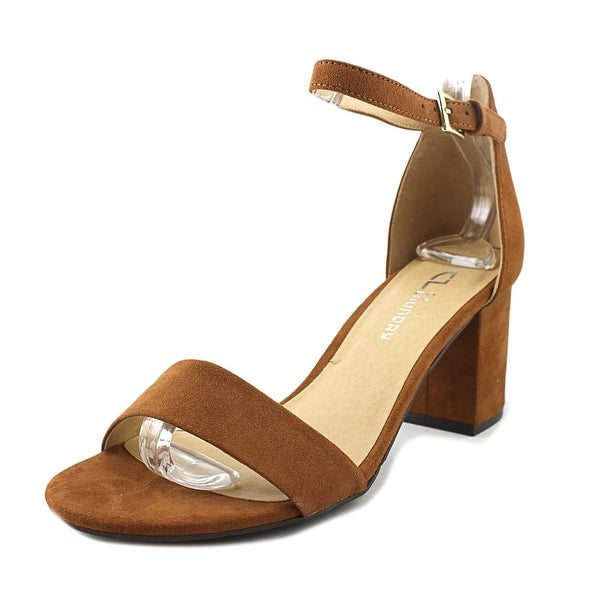 CL By Laundry Jessie Women Open-Toe Synthetic Brown Slingback Heel