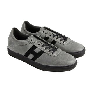 HUF Soto Shark Attack Mens Gray Suede Lace Up Lace Up Sneakers Shoes