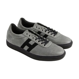 HUF Soto Shark Attack Mens Gray Suede Lace Up Sneakers Shoes