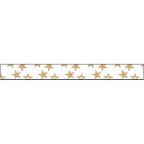 """Gold Stars - Glitter Ribbon .375""""X3yd"""
