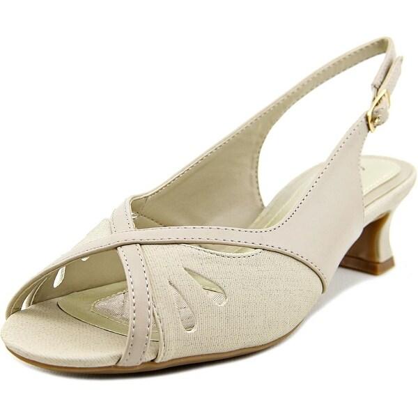 Easy Street Ilana Women W Open-Toe Synthetic Slingback Heel