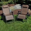Sunnydaze Oversized Zero Gravity Lounge Chair with Pillow and Cup Holder - Thumbnail 68