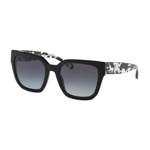 Coach HC8249 50028G 53 Black Woman Square Sunglasses