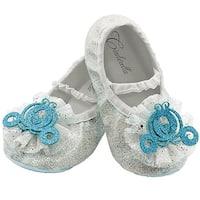 Cinderella Toddler Slippers - White