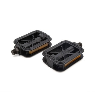 Link to Pair Black Plastic Anti Slip Axle Flat Platform Pedals for Bike Bicycle Cycling Similar Items in Cycling Equipment