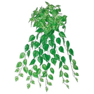 """34.75"""" Decorative Artificial Green and White Pothos Plant Spring Floral Bush"""