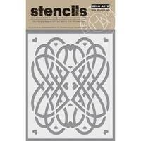 """Love Swirls-Hero Arts Stencil 6.25""""X5.25"""""""