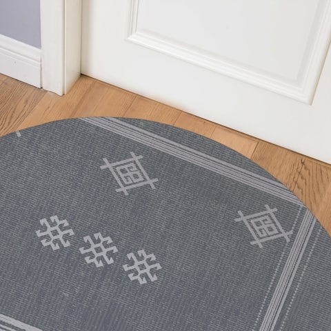 ZINA SLATE Indoor Floor Mat By Kavka Designs
