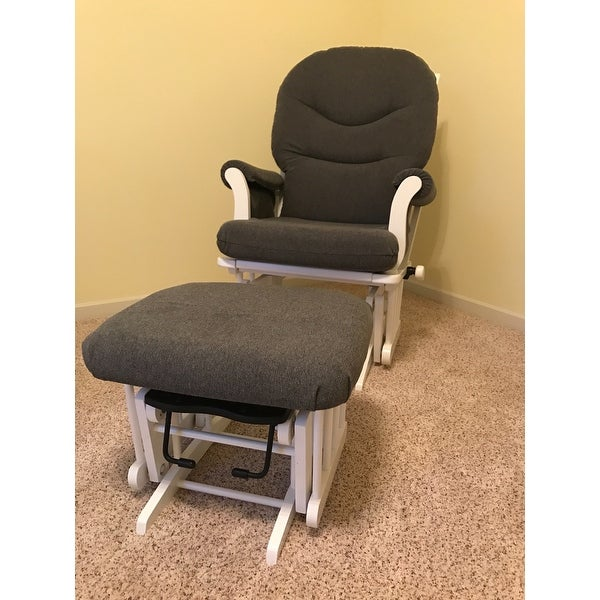 Shop Dutailier Dark Grey Multiposition Reclining Sleigh Glider And Nursing  Ottoman Set   Free Shipping Today   Overstock.com   7605102