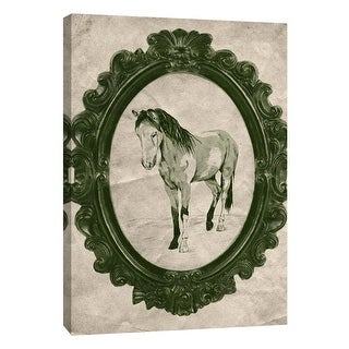 "PTM Images 9-108968  PTM Canvas Collection 10"" x 8"" - ""Framed Paint Horse in Evergreen"" Giclee Horses Art Print on Canvas"