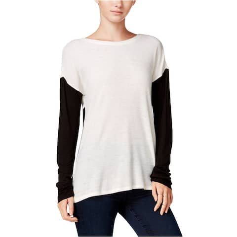 Sanctuary Clothing Womens Ribbed Colorblock Knit Blouse