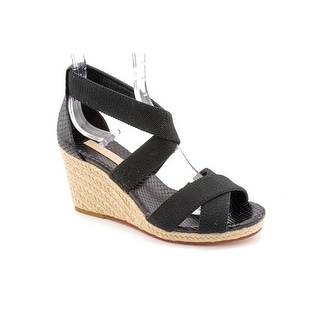 BCBG Max Azria Barcelona Women  Open Toe Canvas  Wedge Sandal