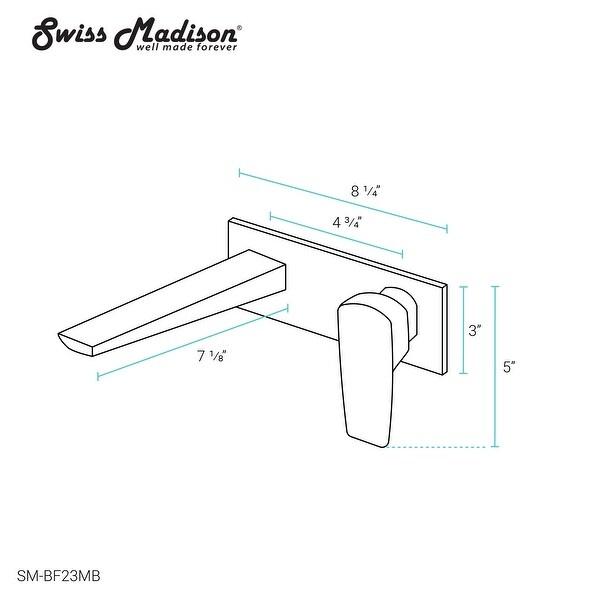Monaco Single-Handle Wall-Mount Bathroom Faucet