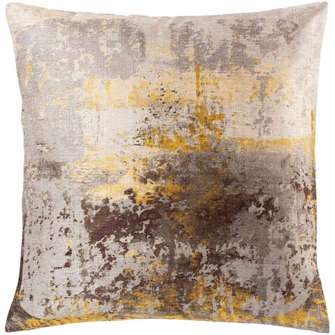 Petrina Abstract Printed Chenille Throw Pillow