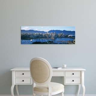 Easy Art Prints Panoramic Images's 'Skyscrapers at the waterfront, Vancouver, British Columbia, Canada' Canvas Art